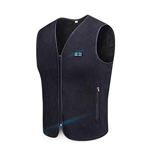 Chaleco térmico con USB, calentador de cuerpo, ligero, con control de temperatura ajustable, chaqueta térmica para mujeres y hombres, actividades al aire libre
