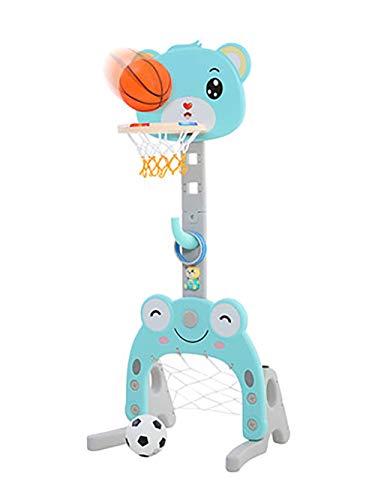 Children's basketbal stand, met voetbal doel en de ring gooien spel thuis schieten kader sub-set, voor draagbare activiteiten voor binnen en buiten spelen