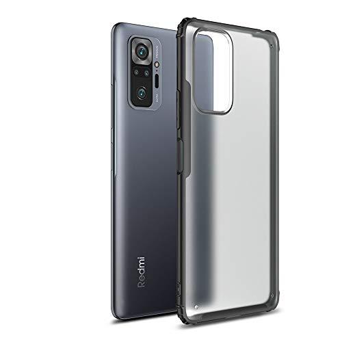 Redmi Note 10 Pro ケース 背面ケース 衝撃吸収 軽量 薄 クリアケース ストラップホール Redmi Note 10 Pro カバー リングスタンド付 RN10P-QT-20330 (ブラック)
