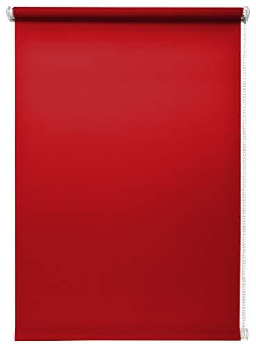 Rolgordijn lichtdoorlatend rood zonder boren Verschillende maten Klemmfix zonder boren venster rolgordijn voor kleine en grote ramen en deuren zichtwerend rolgordijn zijtrekgordijn klemrolgordijn