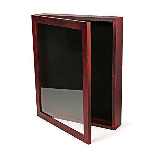Forever Frames 12x15 Large Shadow Box Frame, Deep Shadow Box Display Case, Red Shadow Box, Shadowbox Picture Frame, Graduation Cap Shadow Box, Military Shadow Box Wood, Wedding Shadow Box Frame
