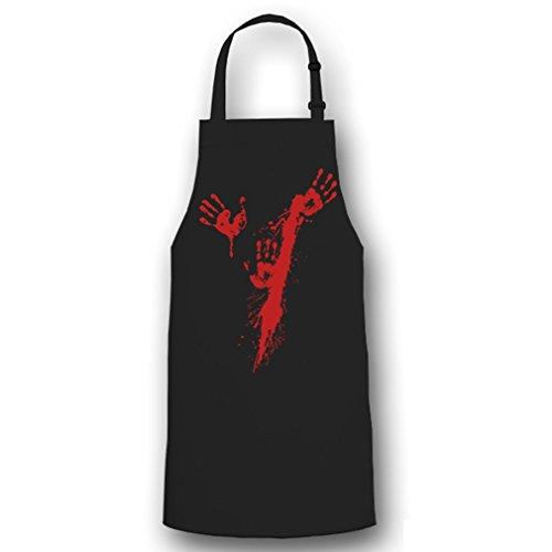 Copytec bloedspuit handen slagers bloedig Halloween opdruk kostuum Fun Humor Horror mes plezier - kookschort/barbecueschort # 6077