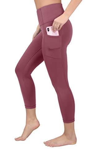 90 Degree By Reflex Squat Proof Side Phone Pocket Yoga Capris - High Waist Cropped Leggings - Tayo Yam with Pocket - Medium