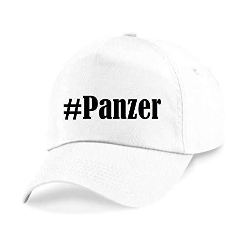 Reifen-Markt Base Cap Hashtag #Panzer Größe Uni Farbe Weiss Druck Schwarz