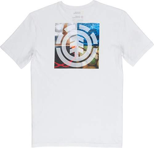 Element Uomo Maglietta Quadrant Seasons SS (off White), Größe:XL
