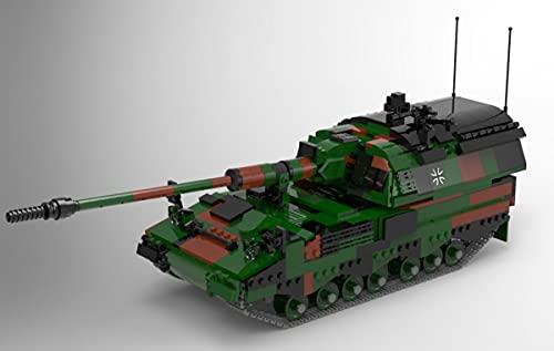 BlueBrixx 06047 Marke Xingbao – Panzerhaubitze 2000, Bundeswehr aus Klemmbausteinen mit 1316 Bauelementen. Kompatibel mit Lego. Lieferung in Originalverpackung.