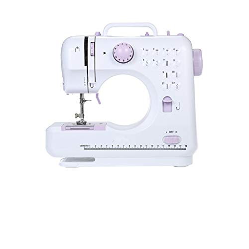 Holshop Multifunction Portable Desktop Electric Household Sewing Machine Sewing Tool Mini Sewing Machine 505A 12 Built-in Stitches, 2 Speeds Double Thread, Foot Pedal Best for Beginner (US Plug)