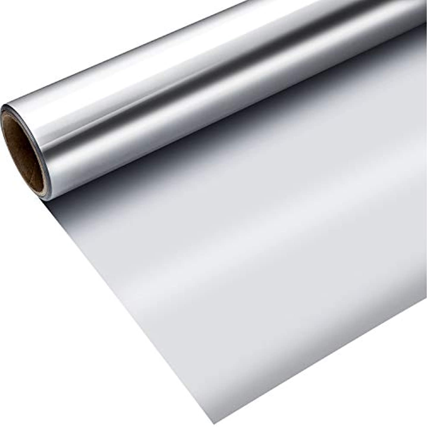 Blulu 1 Roll Heat Transfer Vinyl 12 Inch by 5 Feet for T-Shirts, Hats, Clothing, Iron on HTV Compatible with Cricut, Cameo, Heat Press Machines, Sublimation (Silver)