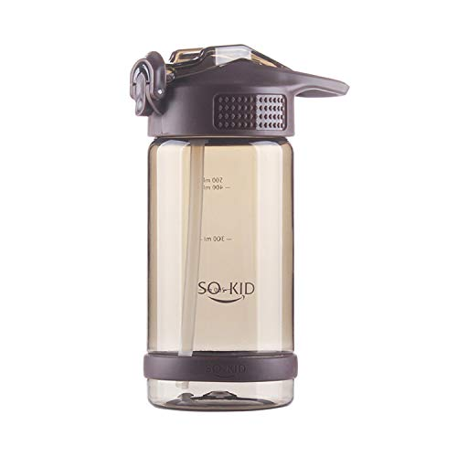 MATT SAGA Bouteille d'eau de Gourde Sport 500/700/800ml sans BPA sans Bpa & Anti Fuite pour Gym, Camping, Cyclisme, Course, Les Activités De Plein Air Yoga,Randonnée (Marron, 500ML)