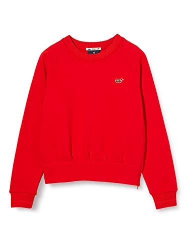 Scotch & Soda R´Belle Girls Clean Sweat with Special Waist Construction Sweatshirt, Reef Red 3605, 12
