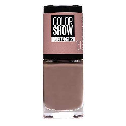Maybelline New York Make-Up Nailpolish Color Show Nagellack Mauve Kiss / Ultra glänzender Farblack in zartem Braun, 1 x 6,7 ml
