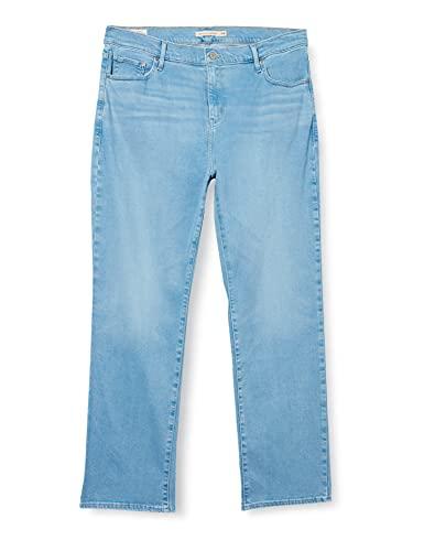 Levi's Plus Size 724 PL HR Straight Jeans, Rio Aura Plus, 38 Short para Mujer