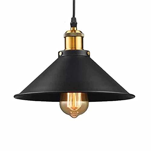lampara colgante techo negro dedidas 300 Diseño retro: lámpara colgante de diseño Edison,para su uso en aplicaciones residenciales y comerciales, como café, restaurante, bar, oficina de metal