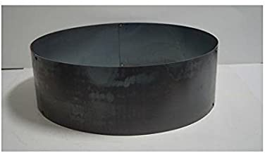 PD Metals Steel Campfire Fire Ring Solid Design - Unpainted - Large 48 d x 12 h