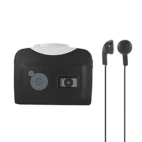 Festnight 230 Convertitore da Cassetta a MP3 Salva in USB Flash Disk Registratore autonomo con partizione Automatica con Auricolare Nero