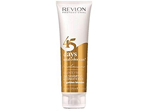 REVLON PROFESSIONAL 45 Days Total Color Care 2-in-1 Shampoo & Conditioner,Golden Blondes,1er Pack (1 x 275 ml)
