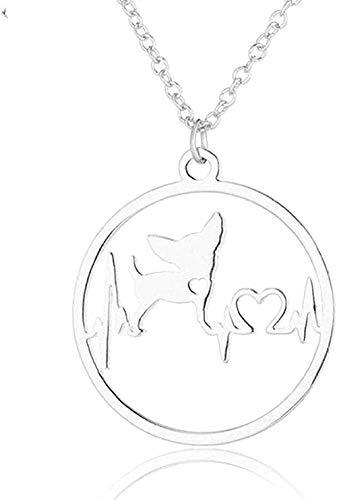BACKZY MXJP Halskette Halskette New Cute Chihuahua Pet Hanging Halsketten Für Frauen Love My Pet Dog Halskette Choker Schmuck Geschenke Geschenk