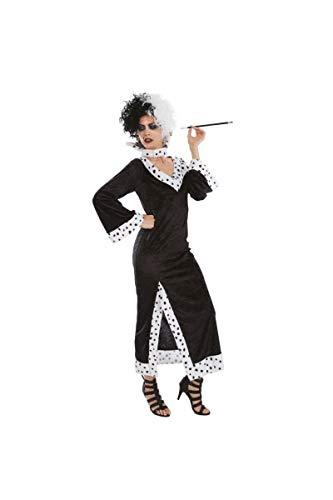 Chaks - C4173XL - Disfraz para adulto de Cruella de Vil (101 dálmatas) - Talla XL
