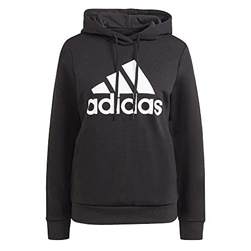 adidas Damen W Bl Fl Hd Kapuzenpullover, Schwarz/Weiß, M EU