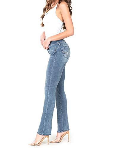YMI Wannabettabutt Front-Rise Denim Bootcut Jeans, Hand Sand+Whiskers (3)