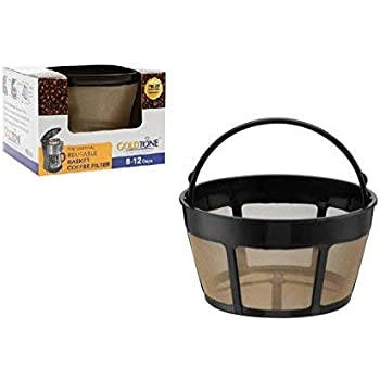 GOLDTONE Reusable 8-12 Cup Basket Coffee Filter fits Hamilton Beach Coffee Makers and Brewers. Replaces your Hamilton Beach Reusable Coffee Filter - BPA Free