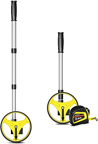 Mini rueda de medición plegable de AIRAJ, rueda de medición de precisión, medidor de distancia, 99.999,9 m, medición de rueda y cinta, bolsa de transporte (pequeña)