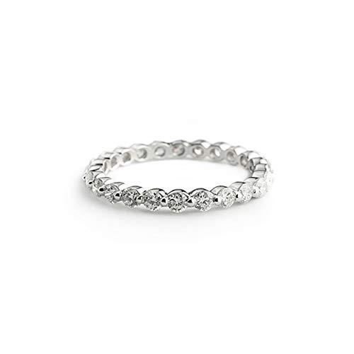 Anillo de compromiso para mujer de oro de 18 quilates 750 y diamantes de 1,10 ct para Navidad