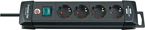 Brennenstuhl Premium-Line Stekkerdoos 4-voudig 4-fach | 1 Stuk zwart