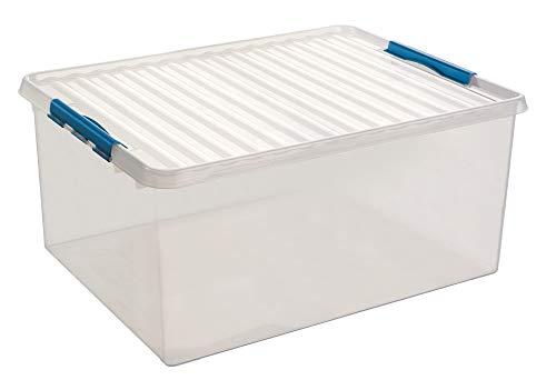 Sunware Q-Line Box - 120 Liter - 80 x 50 x 38cm - transparent/blau