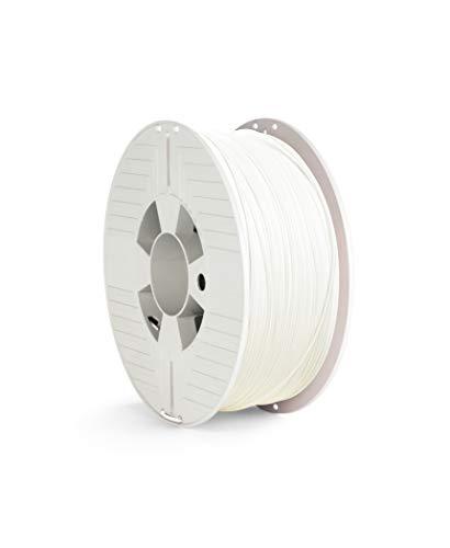 Verbatim - Filamento PLA 1,75 mm – 1 kg, materiale stampato 3D, polilattide ad alte prestazioni, colore: Bianco