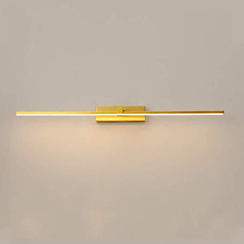 CCLLA Luces de Espejo de baño Modernas, iluminación Frontal de Espejo con luz de Imagen LED con 3 temperaturas de Color, Pantalla de acrílico de Alta transmisión de luz, iluminación de Maquillaje