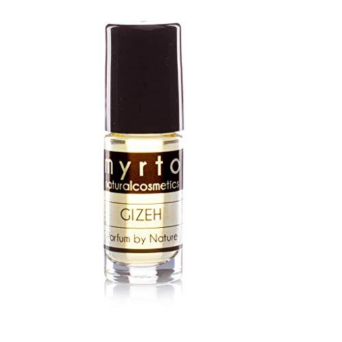 myrto – Bio Naturkosmetik Parfum - GIZEH – naturreines Eau de Parfum für Männer | ohne synthetische Duftstoffe -vegan - in Roll-on Glasflasche - 5ml Travel Size