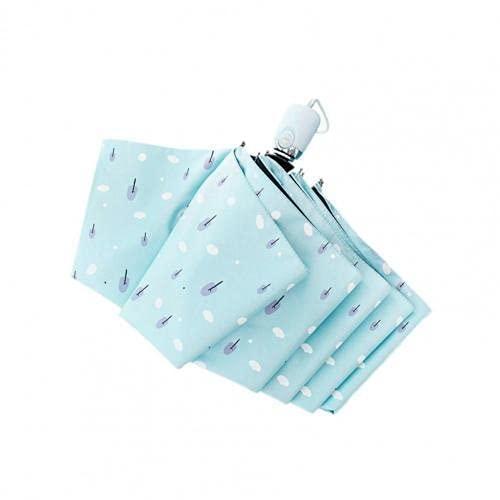 Solsa de Verano Sentimientos amorosos Vinilo Anti -UV Mini Manual 70% de Descuento Paraguas Plegable pequeño Temperamento Fresco Paraguas automático Paraguas de Vinilo (Color : Blue)