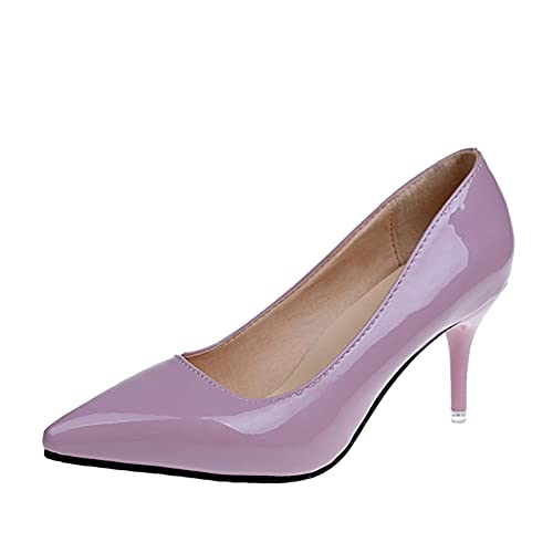 7 cm Stiletto Tacones Altos Mujeres Stiletto Vestido Zapatos de Mujer Boda Zapatos Casuales (Color : Pink, Shoe Size : 6)