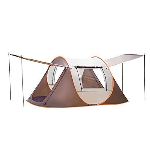 YSJJYQZ Tienda de campaña Carpa automática 3-4 Persona Camina Camping, Tienda de Playa Gazebo Configuración instantánea fácil para el Refugio de Sol, Viajar (Color : Khaki with Rod)
