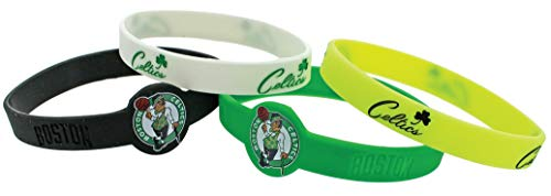 Aminco NBA Boston Celtics Silicone Bracelets, 4-Pack
