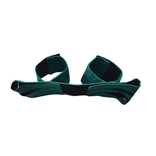 HEALIFTY Einstellbare Baumwolle Rollstuhl Sicherheitsgurt Rollstuhl Beingurt Sicherheitsgurt für behinderte Patienten (grün)