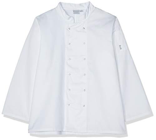 Whites Chefs Apparel A134-S Vegas - Giacca da cuoco a maniche lunghe, colore: Bianco