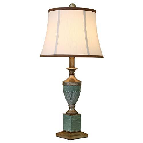 Lámparas de mesa y mesilla de noche Lámpara de mesa americana dormitorio lámpara de cabecera Sala de estar Sala de Estudio creativo retro lámpara de mesa lámpara de escritorio for el estudio teórico L
