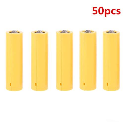 Dummy-Batterie AAA oder AA-Größe Platzhalter Zylinder Leiter Strom Falsch Spannung reduzieren Nicht echte Batterien Spacer (AA(50pcs))