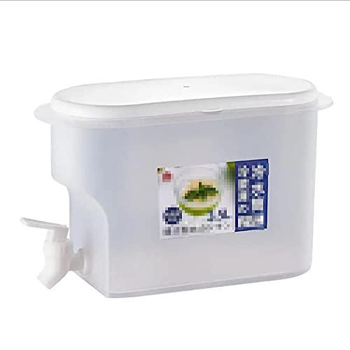 2Pcs Dispensador de Bebidas con Tapa, Jarra de Zumo con Grifo, para Bebida Caliente o Fría - Garrafa de Agua de 3.5 L, para Jardín Terraza, Sin BPA
