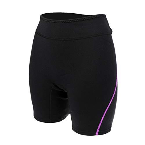 Z.L.FFLZ Nadelanzug Damen Herren 1.5mm NeoprenWetsuit Shorts Taucheranzüge Schnorcheln Scuba Surf Kanu Hosen Stamm-Badebekleidung Tauchen Shorts (Color : Purple for Women L)