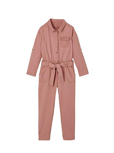 Vertbaudet Mädchen Jumpsuit, Worker-Style dunkelrosa 98/104