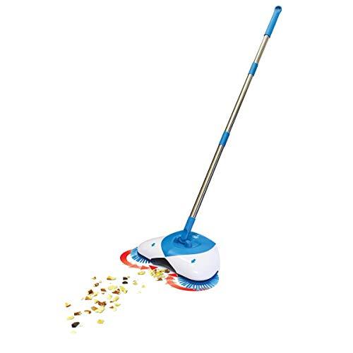 HURRICANE Spin Broom | Besen mit 360 Grad drehbarem Gelenk | Kehrbesen | Kehrschaufel | Besen und Schaufel in Einem | benötigt keinen Strom | umweltbewusst kehren | Das Original von Mediashop