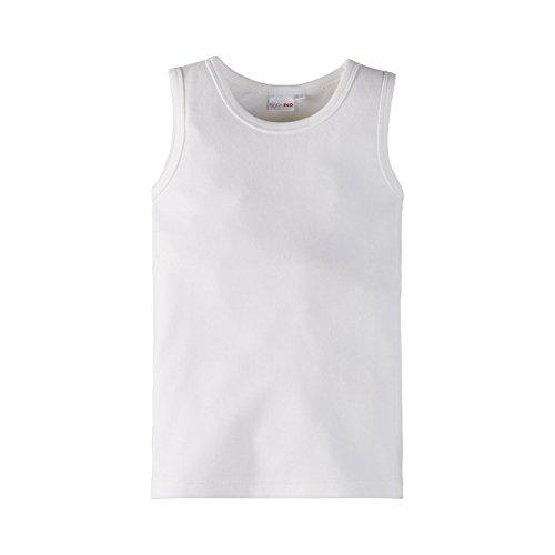 Bornino GOTS Unterhemd - unifarbenes Unterziehshirt für Babys mit Rundhalsausschnitt in Interlock-Qualität aus Reiner Bio-Baumwolle - weiß
