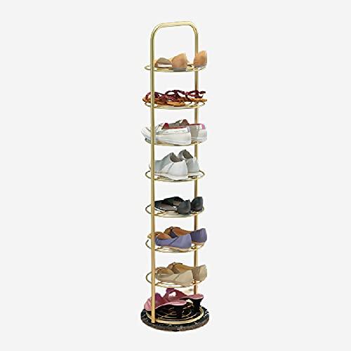 LTLJX Zapatero | Estante de Almacenamiento de Esquina - Ahorro de Espacio con Marco de 6/8 Niveles, Soporte de Zapatos de Metal Estante Torre Vertical de Zapatos,120cm-B