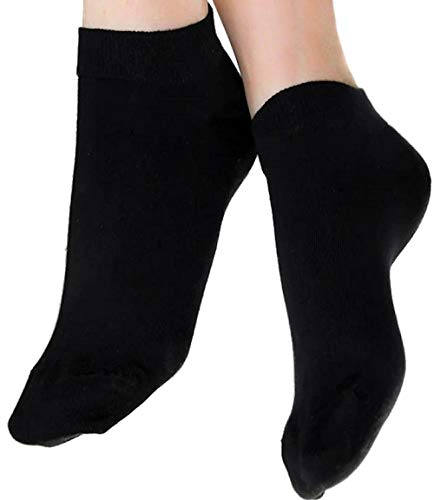 ALBERO 2 Paare Damen Herren Sneakersocken Bio-Baumwolle GOTS Sneaker Socken Söckchen Füßlinge (39-42, schwarz)