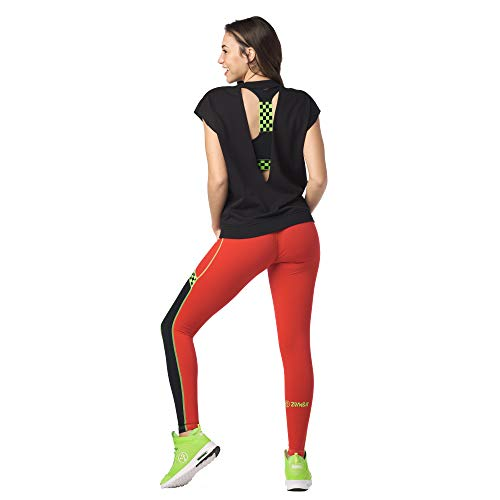 Zumba Sexy Active Wear Dance Tops Entrenamiento Open Back Camisas para Mujer, Negro intenso 2, X-Small