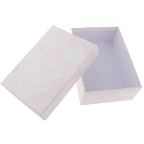 2 Stück Papier Schmuck Geschenkboxen Für Ringe Halsketten Armband - Weiß, 17 x 12 x 6 cm