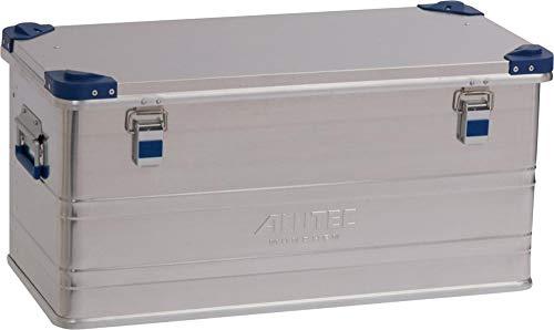 ALUTEC MÜNCHEN 2013092 Aluminiumbox Industry aus 1 mm starkem Alublech 782 x 385 x 379 mm, Silber
